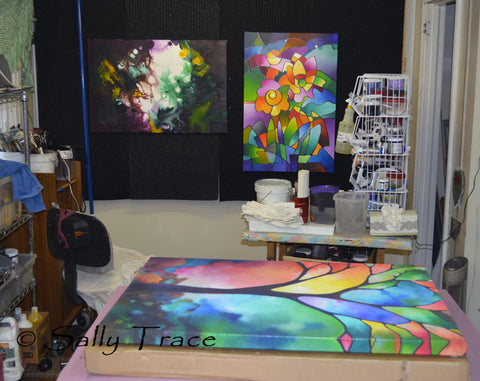 Original contemporary paintings and prints for sale by Sally Trace