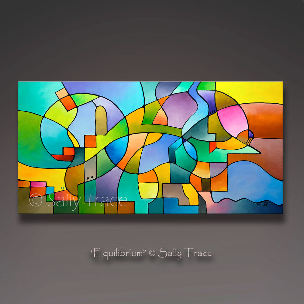Modern contemporary abstract wall art by Sally Trace