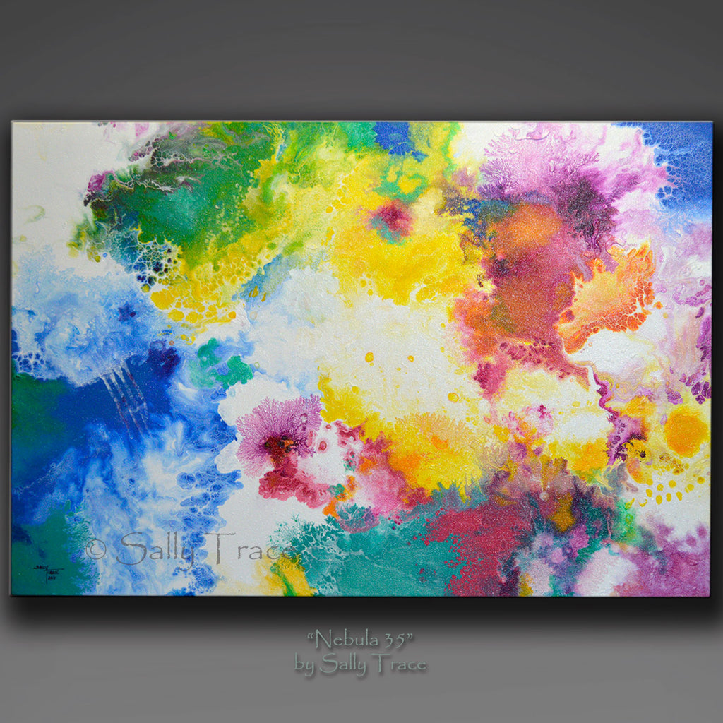 "abstract painting for sale ""Nebula 35"" by Sally Trace"