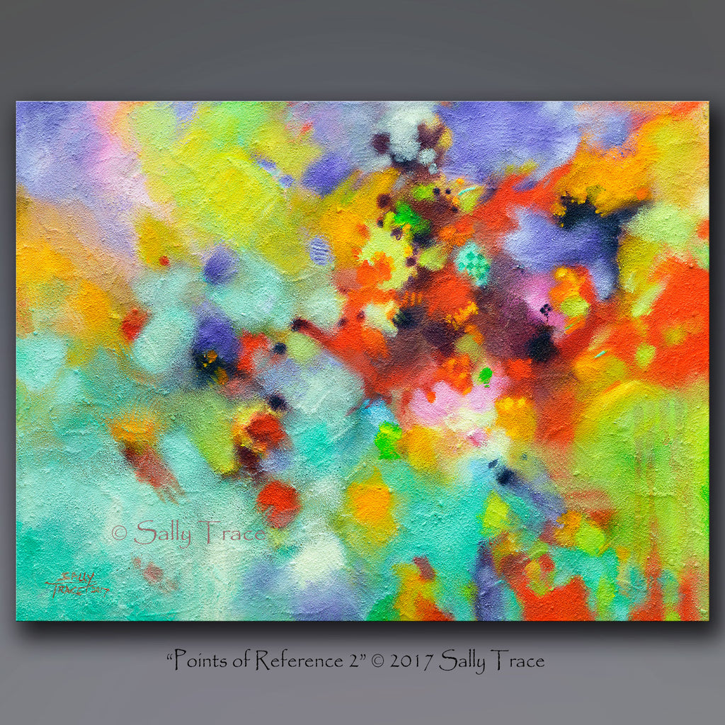 Points of Reference 2, original abstract textured painting
