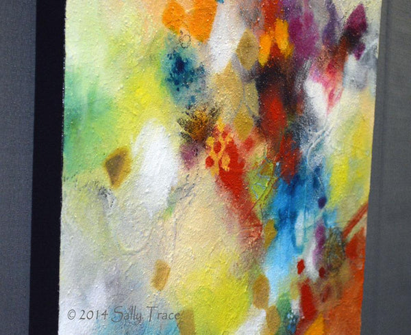 Dance Around It, original textured painting by Sally Trace