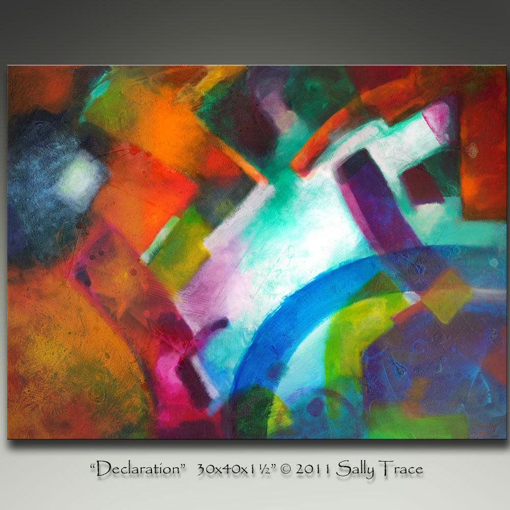 Declaration, original abstract painting by Sally Trace