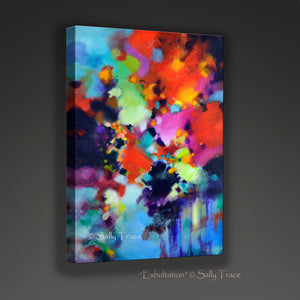 Exultation, abstract painting giclee art print by Sally Trace