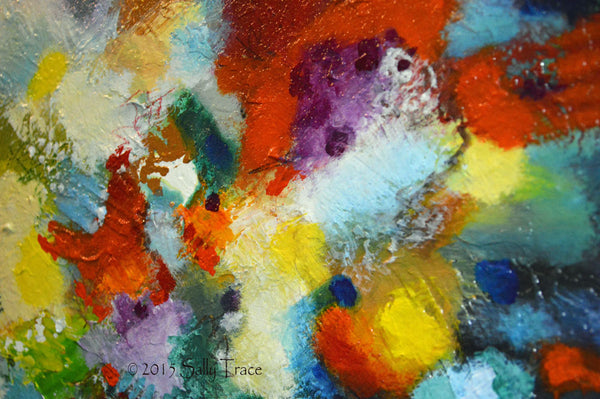 Reach Beyond, original textured abstract painting by Sally Trace