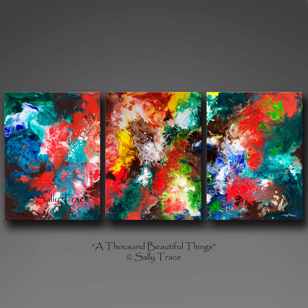 A Thousand Beautiful Things, contemporary giclee art prints by Sally Trace