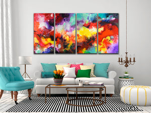 Continuity, multi panel canvas giclee prints by Sally Trace