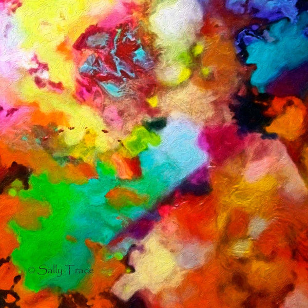 Escape Velocity, canvas prints from the original fluid pour painting by Sally Trace, detail