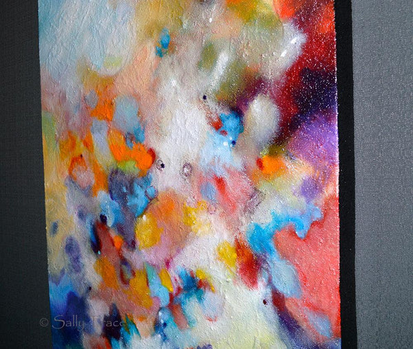 Higher Vibration, original abstract textured painting by Sally Trace