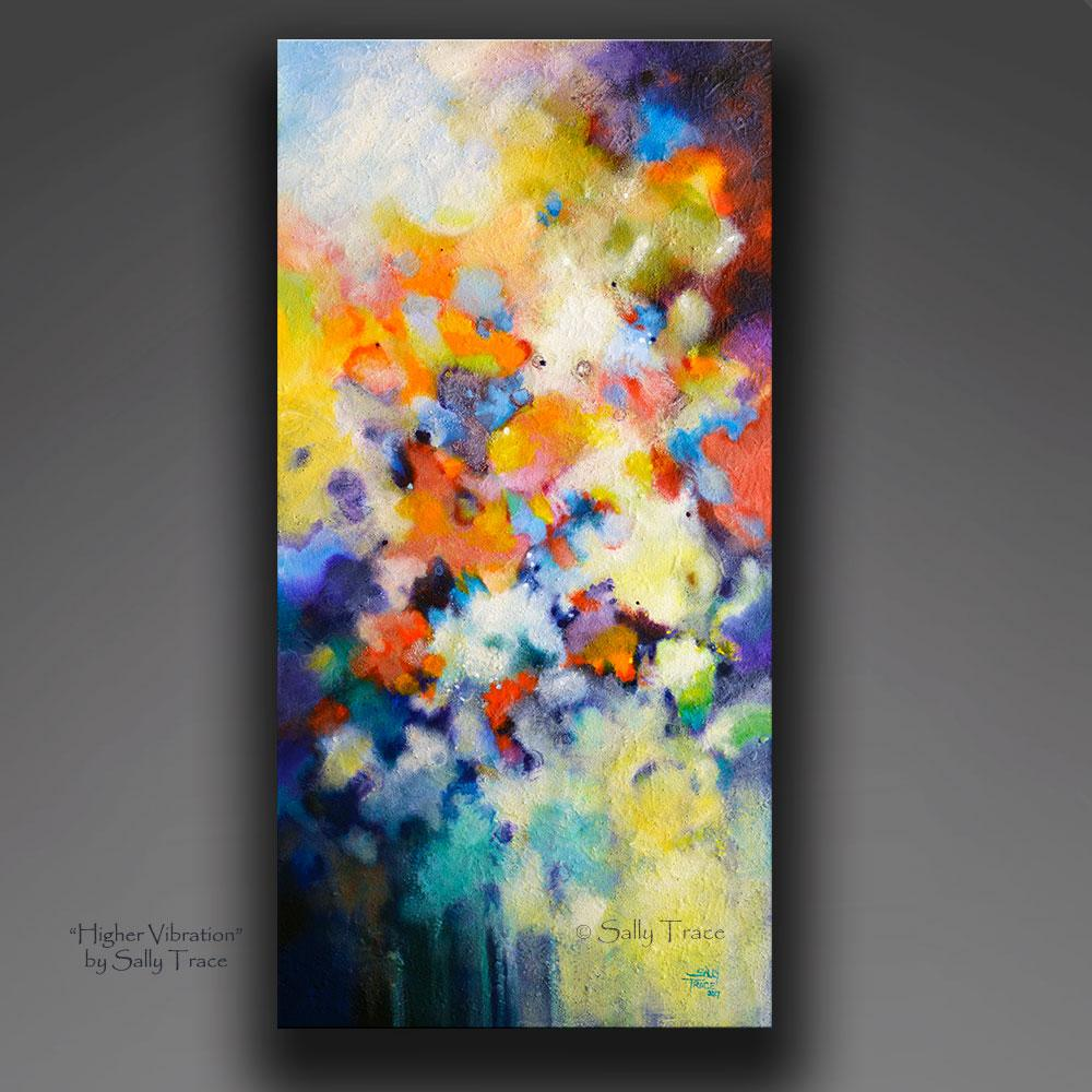 Higher Vibration, giclee print on canvas by Sally Trace, Modern art for sale, contemporary abstract art, art for sale by artist