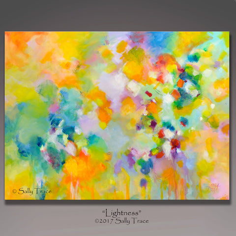 "Modern art painting for sale ""Lightness"" by Sally Trace"