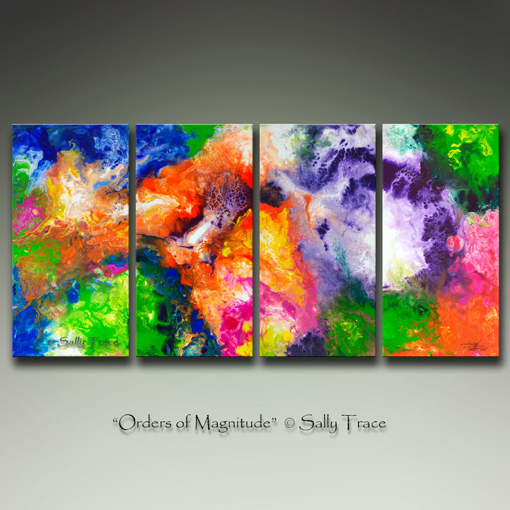 Orders of Magnitude, abstract art prints on canvas by Sally Trace