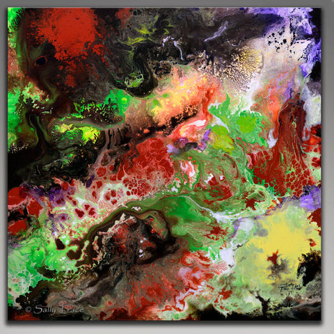 Strata, original fluid painting by Sally Trace