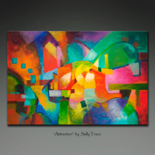 "Contemporary abstract art by Sally Trace, ""Attraction"""