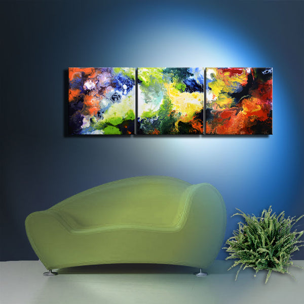 A Glimpse Through Time, triptych giclee print set from the original painting