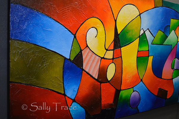 "Modern original abstract painting for sale by Sally Trace ""Clarity of focus"""