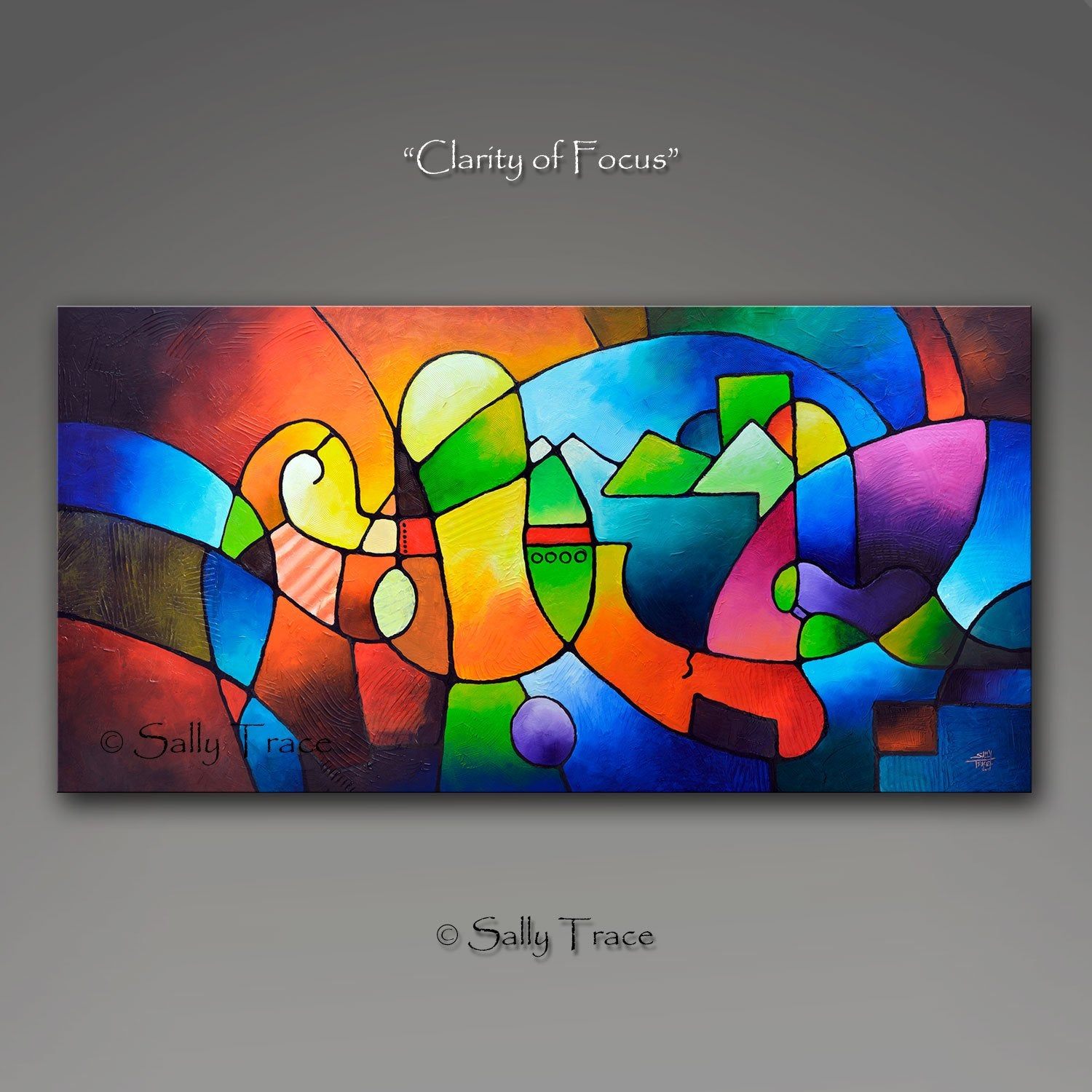 Clarity of Focus abstract painting print by Sally Trace