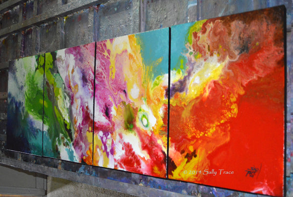 """Clean Sweep"" Original Four Canvas Painting, Sold"