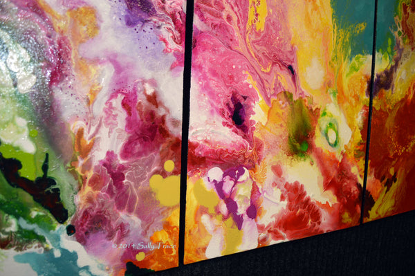 Clean Sweep, fluid art original abstract painting by Sally Trace