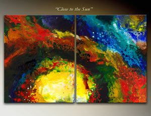 Close to the Sun abstract art for sale by Sally Trace