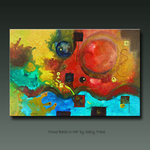 Fluid free form abstract painting, Come Back to Me by Sally Trace