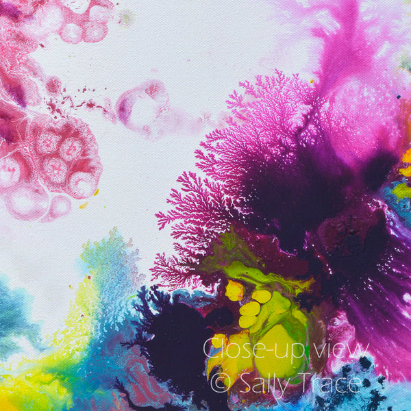 Coming Alive, fluid art giclee prints by Sally Trace