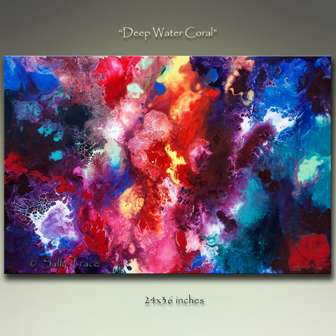 """Deep Water Coral"" Giclee Prints from my Abstract Deep Sea Painting"