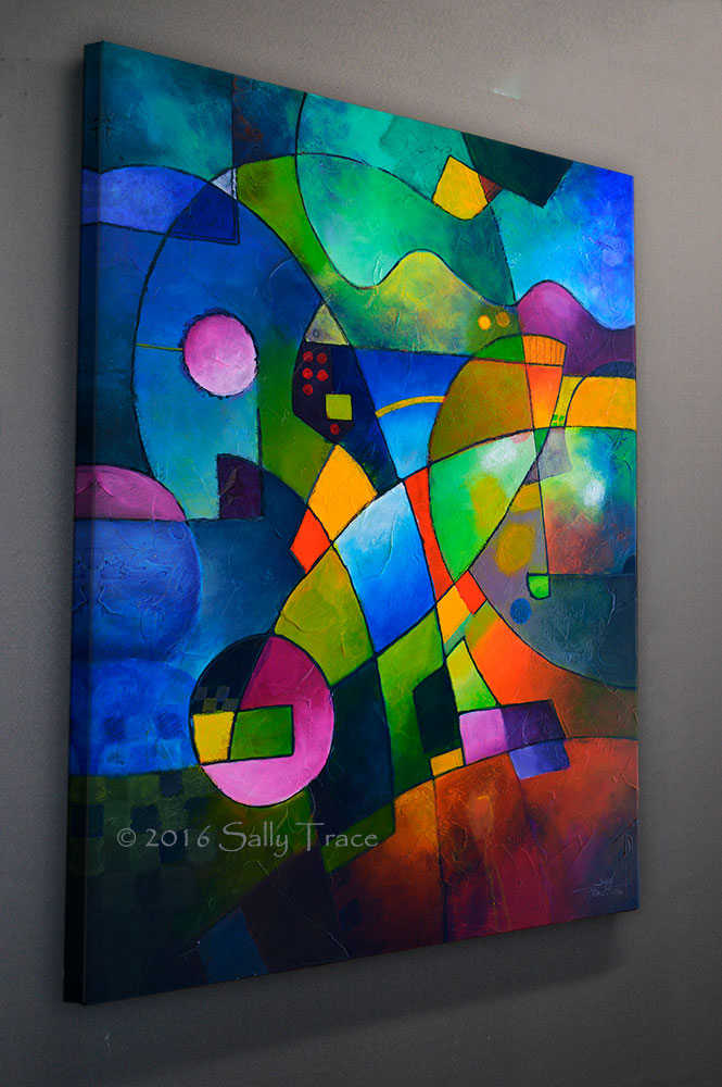 Abstract Art for sale online by Sally Trace, giclee prints from my original abstract paintings