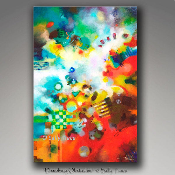 Dissolving Obstacles, giclee print on canvas by Sally Trace