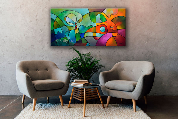 Equanimity by sally trace original modern art abstract painting