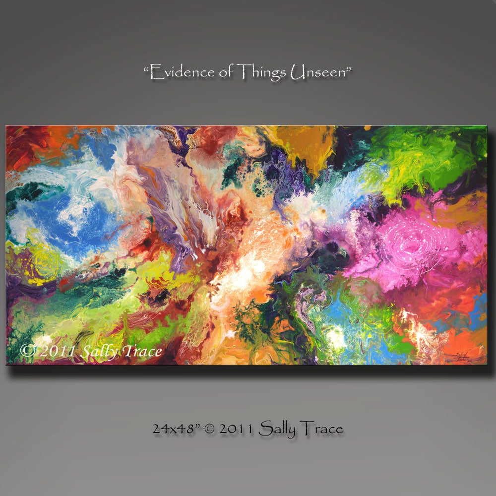 Evidence of Things Unseen abstract art prints by Sally Trace