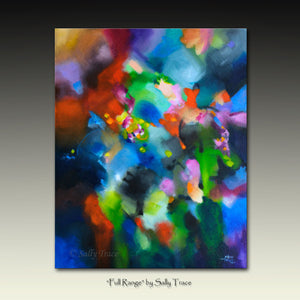 Original modern contemporary abstract expressionist painting for sale by Sally Trace