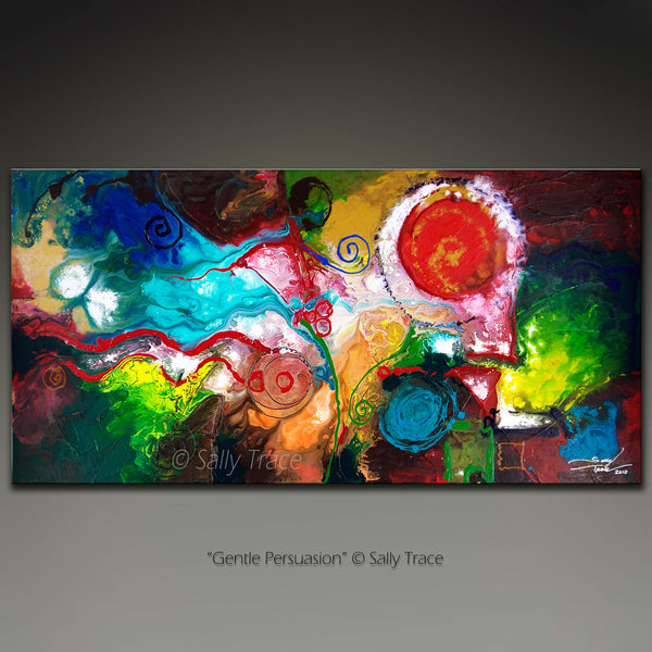 "Modern abstract art prints on canvas by Sally Trace, ""Gentle Persuasion"""