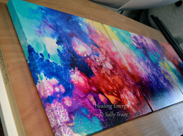 """Healing Energies"" Giclee Prints from the original abstract fluid painting"