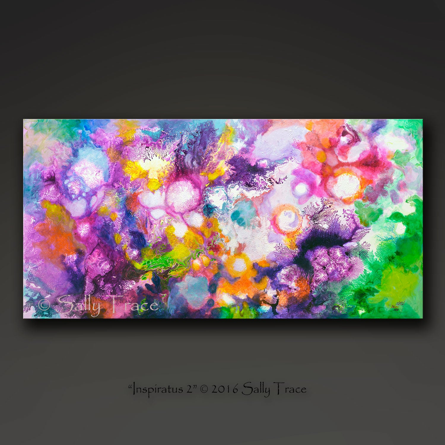 Inspiratus 2, fluid art giclee print for sale made from the original acrylic pour painting