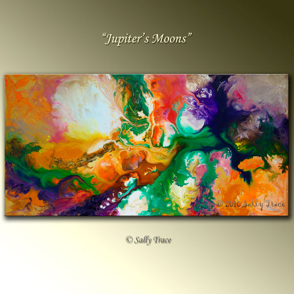 """Jupiter's Moons"" Original Painting, Sold"