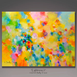 "Modern contemporary art for sale by Sally Trace, ""Lightness"" giclee print on canvas by Sally Trace"