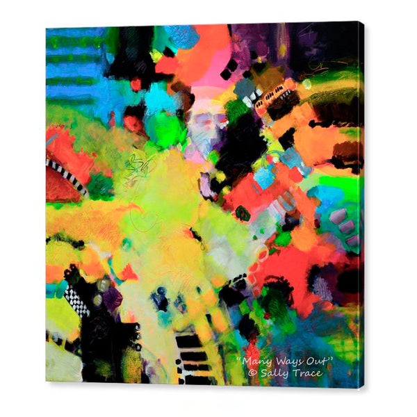 Many Ways Out, fine art giclee print on stretched canvas
