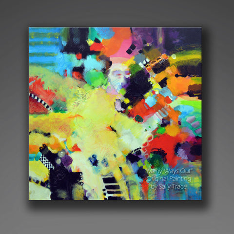 Modern contemporary abstract art expressionism fine art painting on canvas by Sally Trace