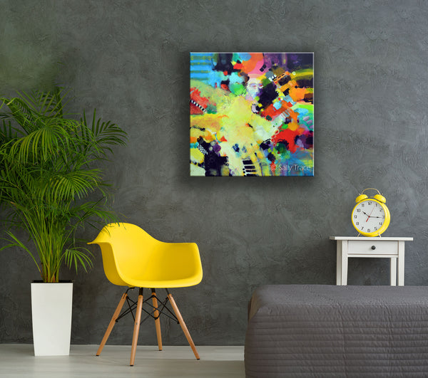 Modern contemporary abstract expressionism fine art painting on canvas by Sally Trace