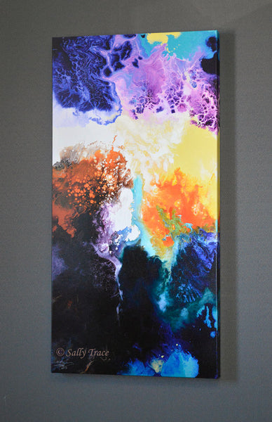 "Modern contemporary fluid painting giclee print ""Migration"" by Sally Trace"