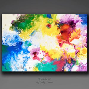 Nebula 35 by Sally Trace, fine art giclee print of my abstract fluid art space painting