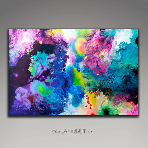 New Life, abstract art painting prints on sale from Sally Trace