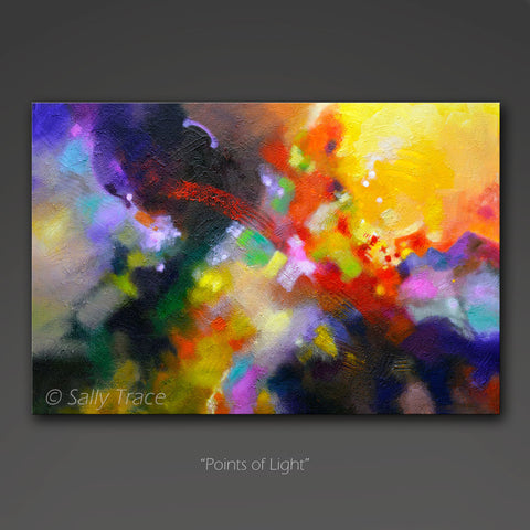 Modern abstract art for sale by Sally Trace, points of Light