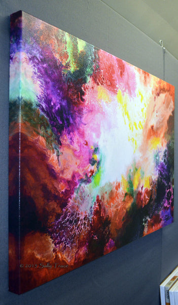 Contemporary abstract art for sale by Sally Trace, Remnants and Rebirth