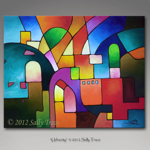 Urbanity, Original Painting, Sold