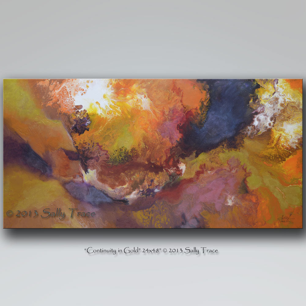 Continuity in Gold, giclee prints on stretched canvas