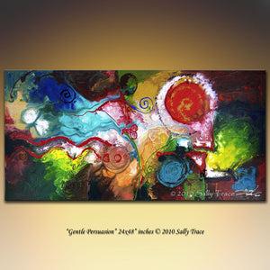 Gentle Persuasion, giclee print on canvas from my original fluid abstract pout painting