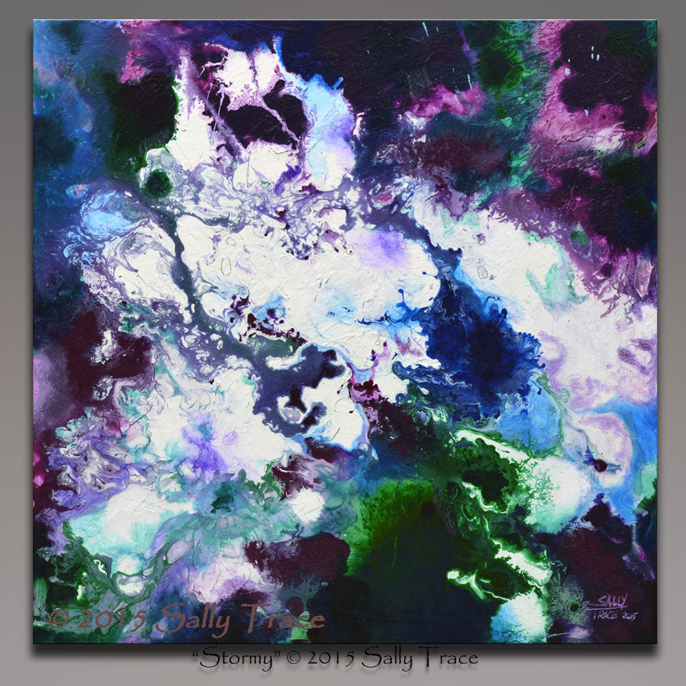 Stormy, giclee prints on stretched canvas