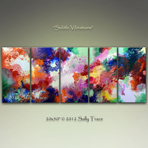 Subtle Vibrations, Five Canvas Giclee Prints