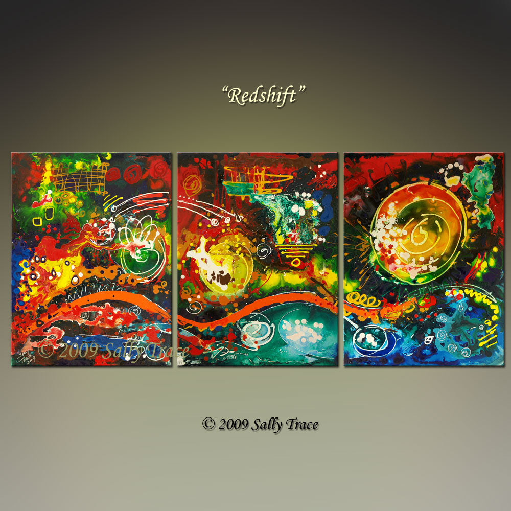Redshift, giclee prints on canvas from the original painting by Sally Trace